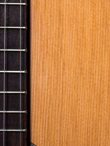 solid top spruce acoustic guitar